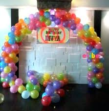 balloon decoration ideas for birthday party at home in india best