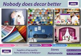 Albany Paint Colour Chart Home Albany Home Decor Centre
