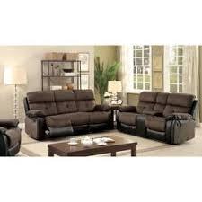 companies wellington leather furniture promote american. Furniture Of America Fawnie 2-piece Two-Tone Champion Fabric/Leatherette Reclining Sofa Companies Wellington Leather Promote American