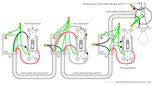 travelers how to wire a light switch 2 gang 2 way lighting circuit wiring diagram 4 way switch with the the power source via the light