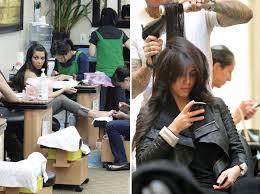 kim kardashian gets her hair and nails