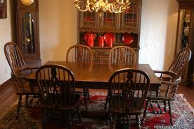 ethan allen royal charter oak dining set this was the one of the first pieces of furniture that alan and i picked out he gave me the set for my birthday