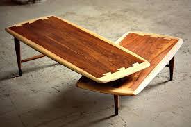 lane coffee table refinish mid century modern acclaim