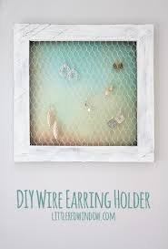 wire earring holder diy littleredwindow com keep your jewelry organized with this simple