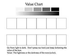 Value Chart Sketching From Light To Dark