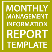 Monthly Management Information Report Template Sell Your