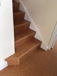 natural cork staircase tiling natural cork floor