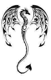 Dragon трайбл татуировки в виде дракона татуировки и тату