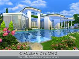 Small Picture The Sims Resource Circular Modern Design 2 by Autaki Sims 4