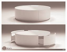 round coffee table white  coffee table decoration