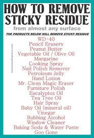 remove sticky adhesive goo k