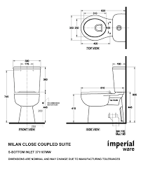 Standard Toilet Dimensions Inches Home Design Mannahatta Us
