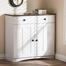 baxton studio lauren contemporary in h x in w kitchen armoire hutch storage microwave stand wood cabinet