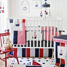 image of cute nautical nursery bedding ideas
