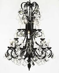 full size of furniture extraordinary black wrought iron chandelier with crystals 9 amusing 13 b13724 black