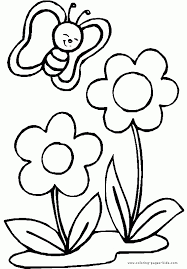 flowers colouring pages erfly and flower coloring for kids intended page 5