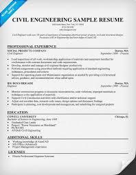Civil Engineering Resume Engineering Resume Civil