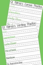 St. Patrick's Day Free Writing Printables | Handwriting worksheets ...