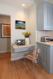 Kitchen Tidy The Kitchen Office Nook With Floating Desk Drawer Provides A Tidy