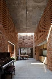 Perforated Brick Wall Design Perforated Brick Facades Make A Home More Stylish And Energy