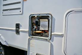 Image result for motorhome water heater inside hook ups