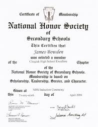 National Honor Society Letter Of Recommendation Example Reference