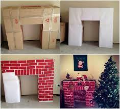 creative ideas diy cardboard decorative fireplace