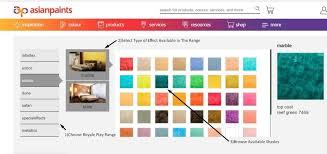asian paints interior colour shade card