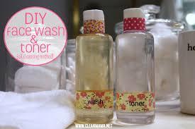 diy face wash toner via clean mama