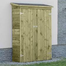 wall mounted wooden tool shed outdoor