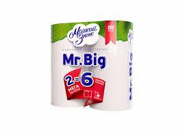 <b>Полотенца бум</b>. <b>Мягкий знак</b> Mr.Big 2 рул.
