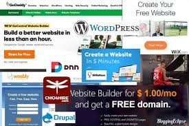 make a free website online easy wordpress wix weebly drupal squarespace which website platform