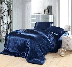 navy blue duvet covers dark blue bedding set silk satin king size queen ed bed