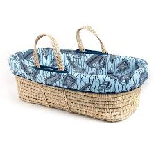 tadpoles moses basket and bedding set blue cultural