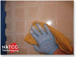 removing excess colorsealer off surface of the tiles