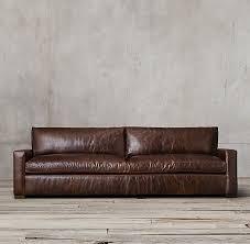 restoration hardware leather sofa pertaining to inspirations 7
