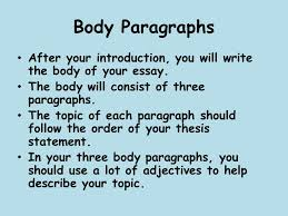 descriptive writing ppt video online  body paragraphs after your introduction you will write the body of your essay the