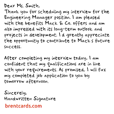 Interview Thank You Card Template Inspirational Thank You Letter