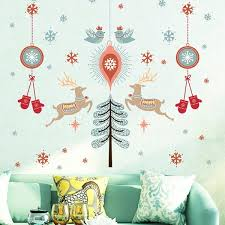 s deer wall stickers living room showcase decoration