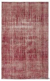 k0024788 red over dyed turkish vintage rug