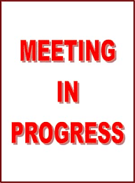 Meeting In Progress Sign Small Business Free Forms