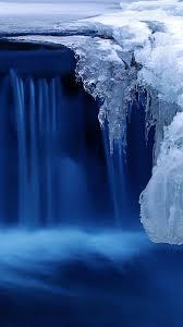 4k hd wallpaper waterfall water snow ice vertical