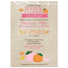 baby girl invite little pumpkin baby shower invitation pink and orange pumpkin fall invitations