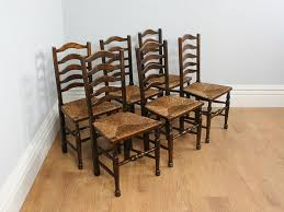 farmhouse dining chairs uk. set of six 6 ash oak ladder back country farmhouse dining chairs circa 1880 1900 uk h