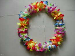 whole party supplies hawaiian flower lei garland wreath cheerleading s necklace drop shippin hawaiian flower lei flores artificial hawaii