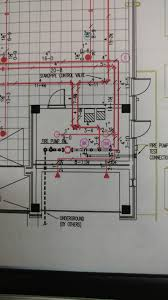 a blueprint highlights an automatic sprinkler system retrofit in one building show caption hide caption