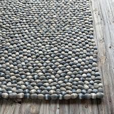 textured rug stones wool ball rug in dark gray textured gray rug