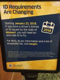 2018 Tsa Won't At In Licenses Missouri Driver's Accepted Be Checkpoints