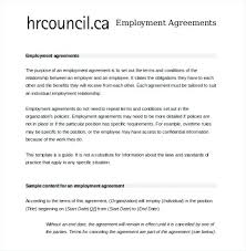 Free Employment Contract Templates Basic Employment Contract Template Sample Proforma Employment