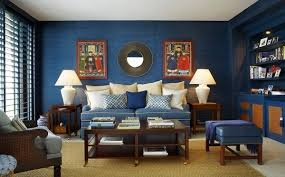 Blue Living Room Walls With Brown Furniture